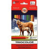 Kredki, Kredki trójkątne Tricolor 24 kolory 9 mm Kooh-i-noor