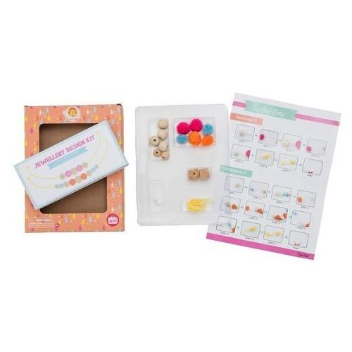 Kreatywne dla dzieci, Zestaw kreatywny Naszyjnik - Pompony i koraliki
