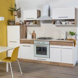 Gotowy zestaw mebli kuchennych Deftrans Double 2,6 m dąb złoty/biały