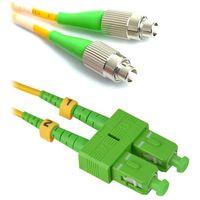 Światłowody i akcesoria, SCAPC-FCAPC-SM-1M Jednomodowy patchcord światłowodowy dupleksowy SC APC(skośny)-FC APC(skośny) o długosci 1m