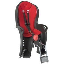 Fotelik rowerowy SLEEPY czarny, czerwona wyściółka