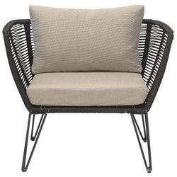 Fotel czarny metalowy