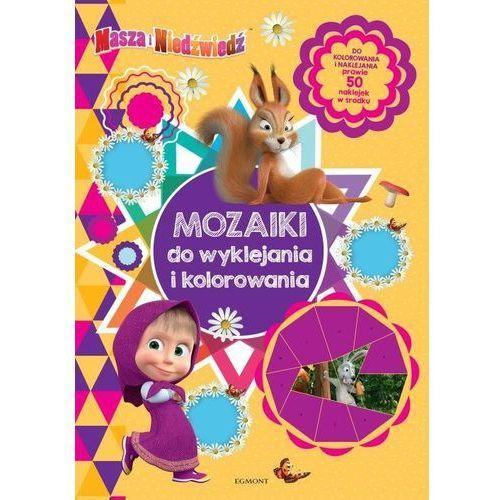 Książki dla dzieci, Masza i Niedźwiedź. Mozaiki do wyklejania i kolorowania (opr. miękka)