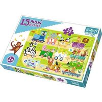 Puzzle, Puzzle Baby 15 elementów Maxi - Pociąg z cyferkami