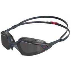 speedo Aquapulse Pro Okulary pływackie, oxid grey/psycho red/smoke 2020 Okulary do pływania