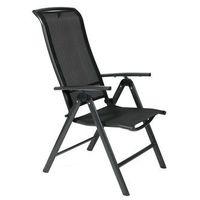 Krzesła ogrodowe, Krzesło ogrodowe składane aluminiowe VEGAS - czarne
