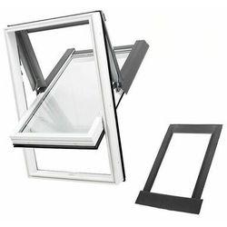 Okno dachowe DOBROPLAST PREMIUM Skylight 66x118 białe + kołnierz falisty zestaw