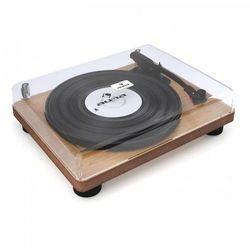 Auna TT Classic WD Gramofon retro USB Line-Out Głośniki Okleina drewniana