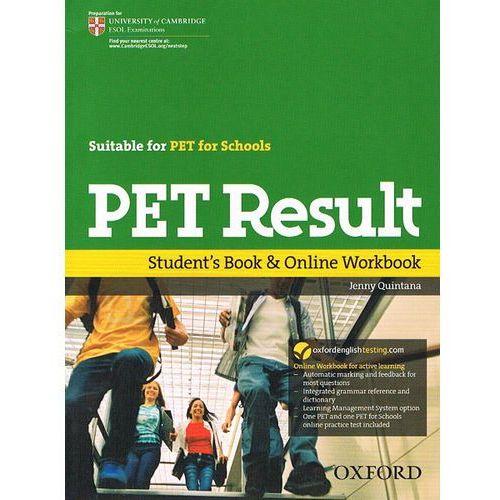 Książki do nauki języka, PET result Student`s Book & online Workbook (opr. miękka)