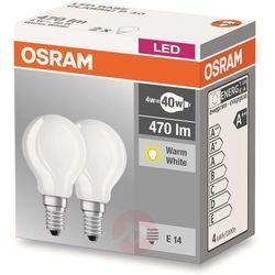 Żarówka LED OSRAM 4058075803985, E14, 4 W = 40 W, 470 lm, 2700 K, ciepła biel, 230 V, 10000 h, 2 szt.