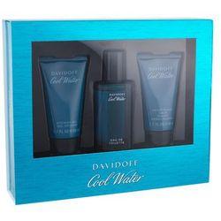 Davidoff Cool Water zestaw 40 ml Edt 40ml + 50ml Żel pod prysznic + 50ml Balsam po goleniu dla mężczyzn