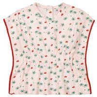 Bluzki dziecięce, Koszulka z okrągłym dekoltem i nadrukiem Oeko Tex 1 m-c - 3 lata