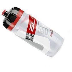 EL00914166 Bidon Elite Corsa przezroczysty - czerwone logo 550ml