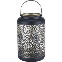 Lampion metalowy Exotic Jungle czarny 15 x 24,5 cm