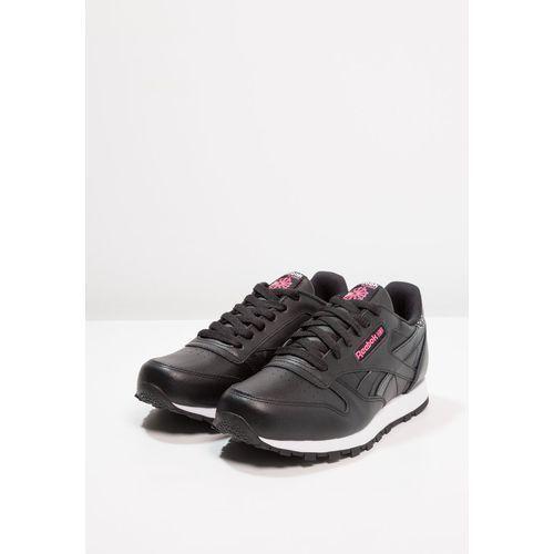 Obuwie sportowe dziecięce, Reebok Classic GIRL SQUAD Tenisówki i Trampki black/acid pink/white