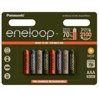 Akumulatorki, 8 x akumulatorki Panasonic Eneloop Tones Expedition R03/AAA 800mAh (blister)