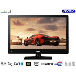 Telewizor LED 15.6'' z USB HDMI VGA DVB-T MPEG-4/2 12V 230V