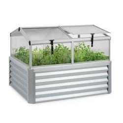 Blumfeldt High Grow Advanced, grządka podwyższona z dachem, 120 x 95 x 100 cm, stal 5401, srebrny