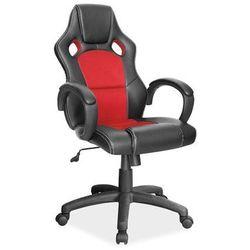 Fotel gamingowy Signal Q-103 - fotel dla gracza - czarny-czerwony
