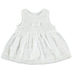 KANZ Girls Mini Sukienka snow white