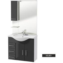SELSEY Zestaw mebli łazienkowych Cranston biały / grafit