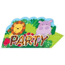 Zaproszenie urodzinowe Party w Dżungli - 8 szt.
