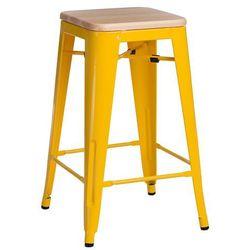 Hoker Paris Wood 75cm żółty sosna natura lna - D2 Design - Zapytaj o rabat!