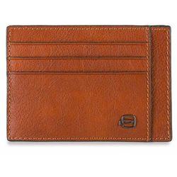 Piquadro Black Square Etui na karty RFID skórzana 11 cm orange ZAPISZ SIĘ DO NASZEGO NEWSLETTERA, A OTRZYMASZ VOUCHER Z 15% ZNIŻKĄ
