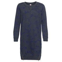Bluza dresowa z nadrukiem bonprix niebieski z nadrukiem