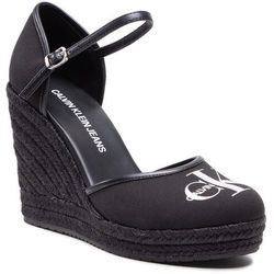 Espadryle CALVIN KLEIN JEANS - Wedge Sandal Close Toe Co YW0YW00150 Black BDS