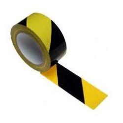 Taśma samoprzylepna żółto czarna szerokość 100 mm