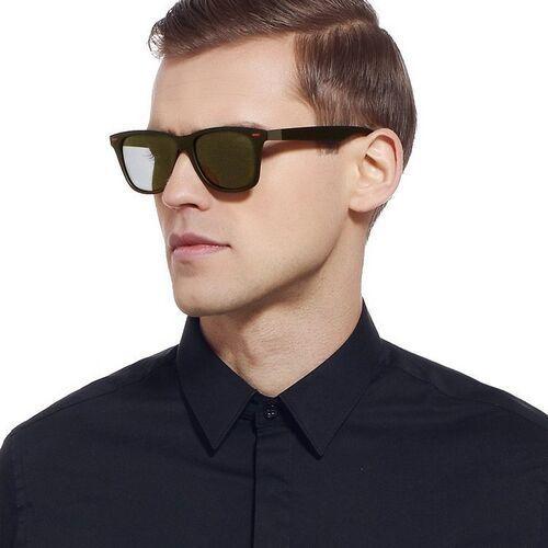 Okulary przeciwsłoneczne, Okulary przeciwsłoneczne męskie polaryzacyjne brąz