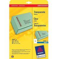 Etykiety biurowe, Etykiety adresowe AVERY A4 (do paczek i przesyłek) do drukarek atramentowych - X06548