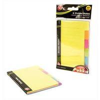 Karteczki, Karteczki Notes Pukka Pad z przekładką 60 sztuk 6 kolorów