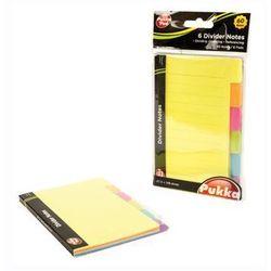 Karteczki Notes Pukka Pad z przekładką 60 sztuk 6 kolorów