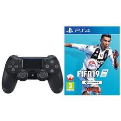 Kontroler SONY DualShock 4 Czarny + FIFA 19 + DARMOWY TRANSPORT!