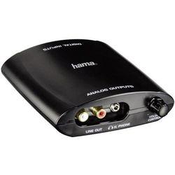 Konwerter sygnału audio Hama 83182, 1x Cinch, Toslink -> 2x Cinch, jack 3,5 mm, jednokierunkowy (wtyk A do wtyk B)