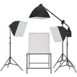 vidaXL Oświetleniowy zestaw softbox do studia ze stołem fotografii Darmowa wysyłka i zwroty