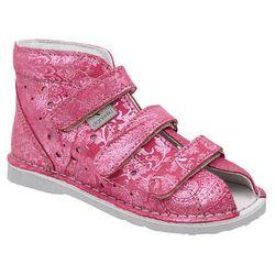 Kapcie profilaktyczne buty DANIELKI T125L T135L Brokat Różowe - Różowy ||Srebrny ||Brokat