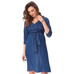 ubrania ciążowe Modna sukienka ciążowa Berry Piękny Brzuszek