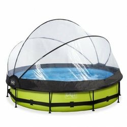 Basen Exit Lime okrągły 360 cm składany dach kopuła + pompa filtrująca