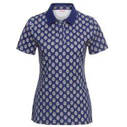 Shirt polo z nadrukiem bonprix kobaltowy z nadrukiem