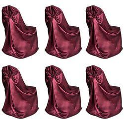vidaXL Pokrowce na krzesła weselne 6 szt. fioletowe Darmowa wysyłka i zwroty