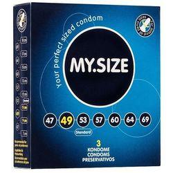 MY.SIZE - Prezerwatywy lateksowe 49 mm (3 szt.)