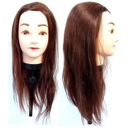 Główka Fryzjerska Treningowa Włos 55 cm + Uchwyt