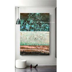 Strukturalne marzenia - abstrakcyjne obrazy do modnego salonu rabat 10%