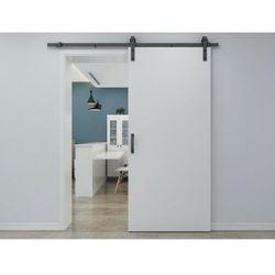 Zlicowane drzwi przesuwne VARIN – 205 × 83 cm (wys. × szer.) – MDF + PVC, kolor biały