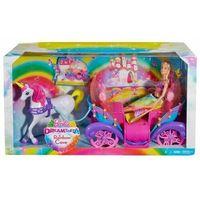 Lalki dla dzieci, Lalka Barbie tęczowa karoca DPY38