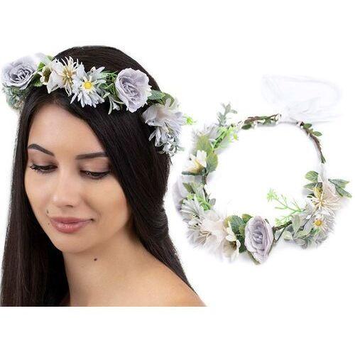 Pozostała biżuteria, Wianek na głowę boho kwiaty ślubny rustykalny