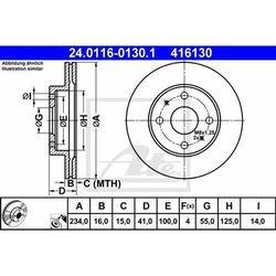 TARCZA HAM ATE 24.0116-0130.1 DAIHATSU SIRION III 1.3 4WD 05-, YRV 1.0, 1.3 01-